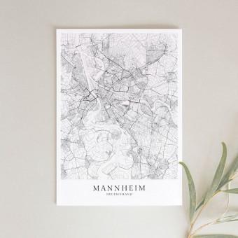 MANNHEIM als hochwertiges Poster im skandinavischen Stil von Skanemarie