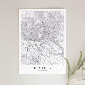 HAMBURG als hochwertiges Poster im skandinavischen Stil von Skanemarie