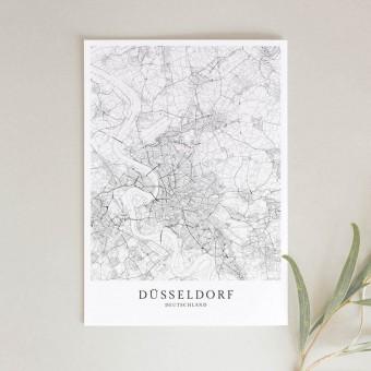 Düsseldorf als hochwertiges Poster im skandinavischen Stil von Skanemarie