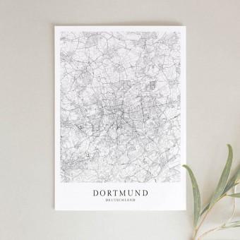 Dortmund als hochwertiges Poster im skandinavischen Stil von Skanemarie