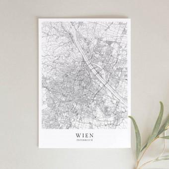 Wien als hochwertiges Poster im skandinavischen Stil von Skanemarie