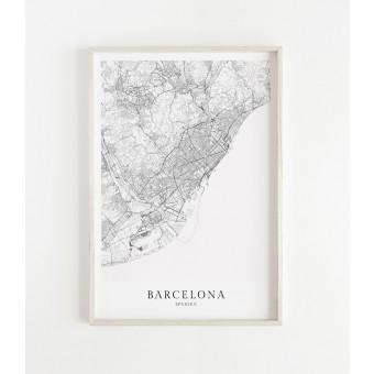 BARCELONA als hochwertiges Poster im skandinavischen Stil von Skanemarie