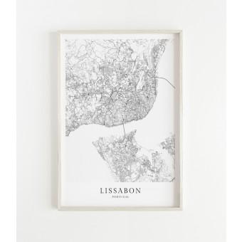 LISSABON als hochwertiges Poster im skandinavischen Stil von Skanemarie
