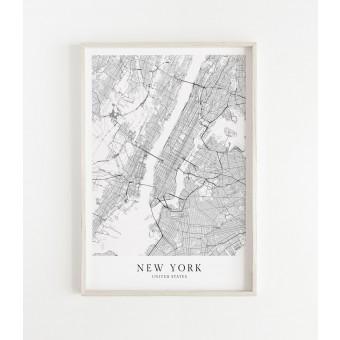 NEW YORK als hochwertiges Poster im skandinavischen Stil von Skanemarie
