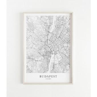 BUDAPEST als hochwertiges Poster im skandinavischen Stil von Skanemarie