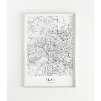 PRAG als hochwertiges Poster im skandinavischen Stil von Skanemarie