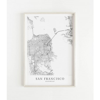 SAN FRANCISCO als hochwertiges Poster im skandinavischen Stil von Skanemarie