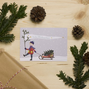 """HEJ Marlen Postkarte """"Frohe Weihnachten"""""""
