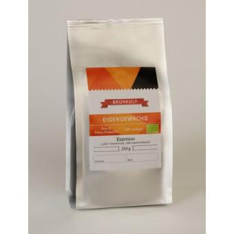 """BRÜHKULT-Espresso """"Eigengewächs"""" (Bio) 250g (ganze Bohne)"""
