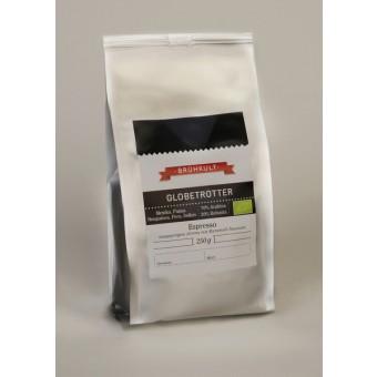 """BRÜHKULT-Espresso """"Globetrotter"""" (Bio) 250g (Gemahlen)"""