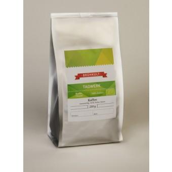 "BRÜHKULT-Kaffee ""Tagwerk"" (Bio) 250g (ganze Bohne)"