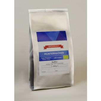 """BRÜHKULT-Kaffee """"Muntermacher"""" (Bio) 250g (ganze Bohne)"""