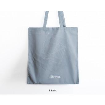 ILIFØRM Jutebeutel/Jutetasche Baumwolle grau, lange Henkel