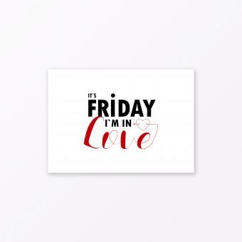 "TYPOP Postkarte ""Fridaylove"" DIN A6"
