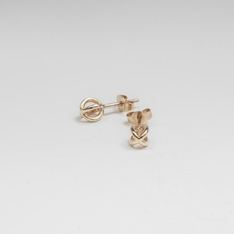 Jonathan Radetz Jewellery, Stecker KISSKISS, Gold 375