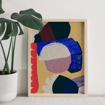formwiese - »Glücksfang« (A3 Poster, Graspapier, abstrakt)