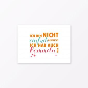 """TYPOP Postkarte """"Bommeln dran"""" DIN A6"""