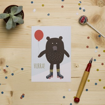 "HEJ Marlen Postkarte ""Hurra"""