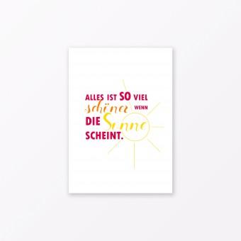 """TYPOP Postkarte """"Alles ist so viel schöner"""" DIN A6"""