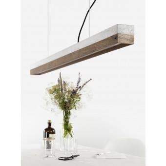 GANTlights - Beton Hängeleuchte [C1]old wood Lampe Altholz minimalistisch