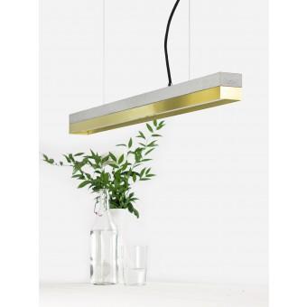 GANTlights - Beton Hängeleuchte [C2]brass Lampe Messing minimalistisch