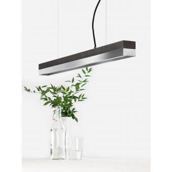 GANTlights [C2]dark/stainless steel Pendelleuchte Edelstahl klein