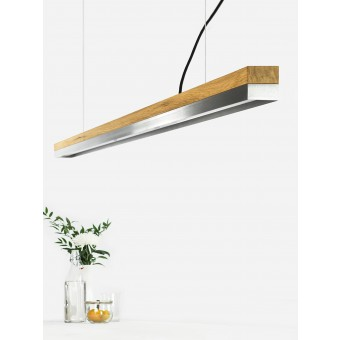GANTlights [C3o]stainless steel Pendelleuchte Edelstahl lang