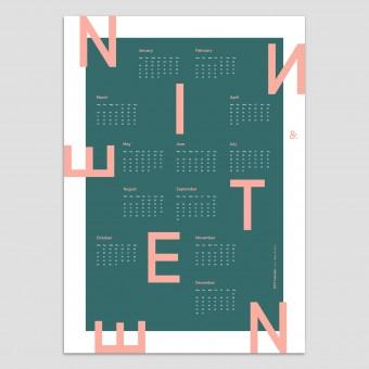Type & Face – NINETEEN Kalender 2019