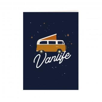 Roadtyping Postkarte Vanlife