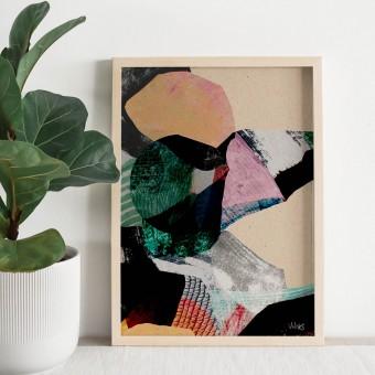 formwiese »Bergwiese« (nachhaltiges A3 Poster, Graspapier, abstrakt)