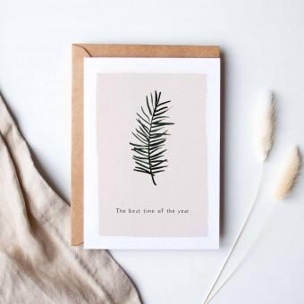 Paperlandscape | Faltkarte | Weihnachtskarte | Tannenzweig