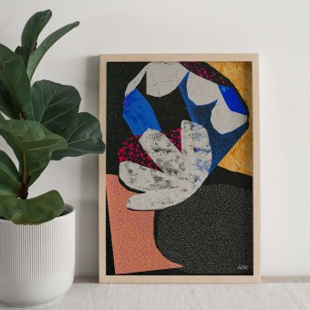 formwiese »Knospe« (nachhaltiges A3 Poster, Graspapier, abstrakt)