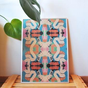 formwiese - »Sammelsurium« (A3 Poster, Graspapier, abstrakt)