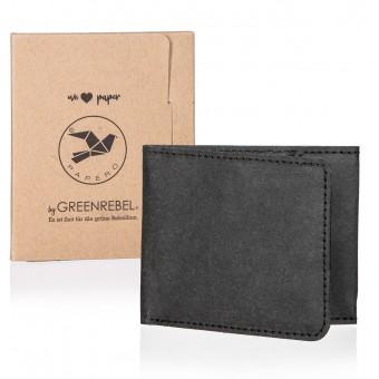 PAPERO extrem flaches mini Wallet Modell RAVEN Kraftpapier, Geldbörse, Geldbeutel, Portemonnaie, Brieftasche robust, leicht, mit integriertem RFID-Schutz FSC Siegel