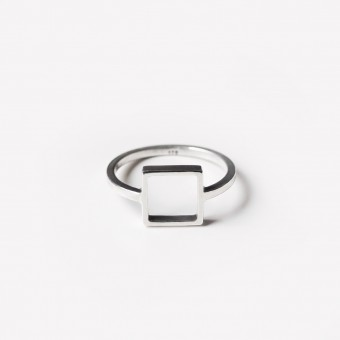 B KREB jewelry LINE ring square