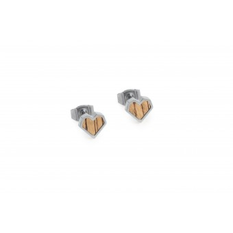 "BeWooden Ohrringe mit Holzdetail - Ohrstecker - Motiv Herz - ""Lini Earrings Heart"""