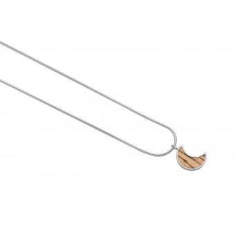 """BeWooden Halskette mit Anhänger - Holz Detail - Motiv Halbmond - """"Lini Necklace Halfmoon"""""""