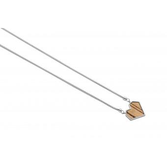 """BeWooden Halskette mit Anhänger - Holz Detail - Motiv Herz - """"Lini Necklace Heart"""""""