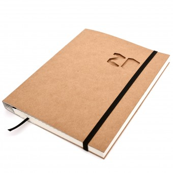 tyyp Kalender 2020 - Schweizer Broschur, Natur, handmade