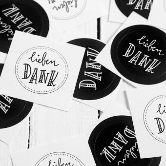 Kleine Papeterie // Lieben Dank // Sticker // Handlettering