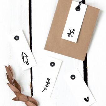 Kleine Papeterie // Geschenkanhänger // Weihnachten // 600g Papier