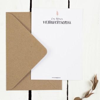 Kleine Papeterie // Weihnachtskarte // Ein kleiner Weihnachtsgruß