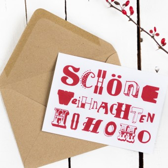 Kleine Papeterie // Weihnachtskarte // Hohoho