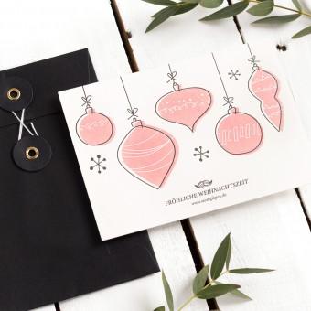 Kleine Papeterie // Weihnachtskarte // Letterpress