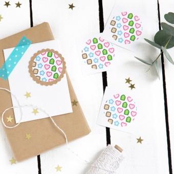 Kleine Papeterie // Sticker // Weihnachten