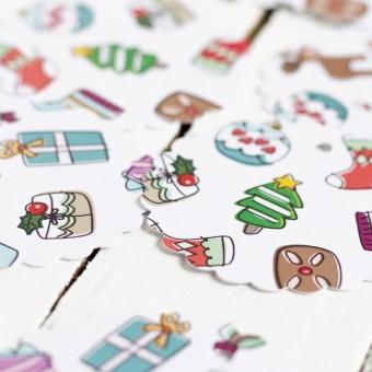 Kleine Papeterie // Weihnachten // Geschenkanhänger // verspielt