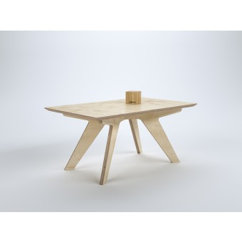 stückwerk plug(n)ply2 Tisch Birke