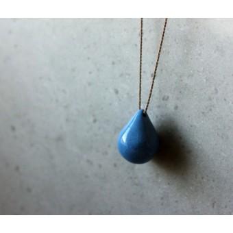 Skelini - Porzellantropfenkette, cobalt blau