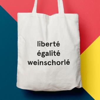"""edition ij Baumwolltasche """"liberté égalité weinschorlé"""""""