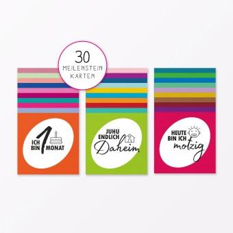 """TYPOP 30-teiliges Set Meilensteinkarten """"Mein erstes Jahr"""" quadratisch"""